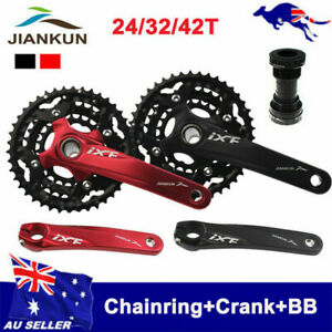 AU STOCK 3X10S Triple Speed 104bcd 24/32/42T MTB Bike Chainring Crankset Crank