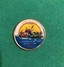 New Jersey 1999 State Quarter Painted Color Background Collectible Coin