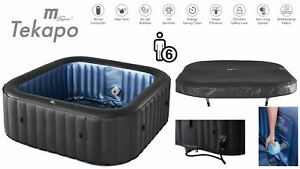 2021 MSpa Tekapo 6-Person Inflatable Hot Tub Jacuzzi Spa Square Brand New Model