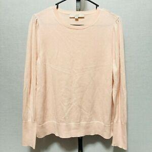 Ann Taylor Loft Sweater Womens Sz L Light Pink Wool Blend Lightweight