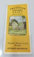 DETROIT WHITE LEAD Paint Color Swatches Book Vintage Hardware Store Display