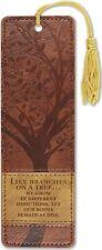 Tree of Life Artisan Bookmark Leather Bound