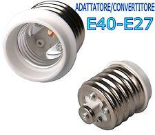 ADATTATORE CONVERTITORE DA E40 A E27 LAMPADE FARETTI LED E40-E27