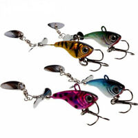 Metal Spinner Spoon Fishing Lure Hard Baits Sequin Feather Hook Tackle LJ