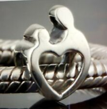 Sterling Silver Mother and Child European Bead Charm 925