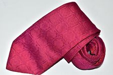 Men's Hugo Boss Floral Red Silk Neck Tie made in Italy
