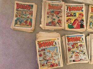 LARGE LOT OF DANDY COMICS 1981 -1999 APPROX 325 DIFFERENT DANDY COMICS