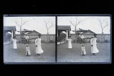 Indochine Viêt Nam France Colonie Photo M10 Plaque de verre Stereo NEGATIVE