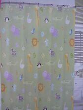 "Bambini by Kassatex Zoo Friends 100% Cotton Fabric Shower Curtain 72"" x 72""  NIP"