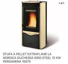 Termostufa termo stufa a pellet NORDICA EXTRAFLAME Duchessa Idro 12 kW pergamena
