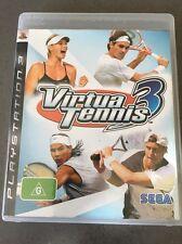 Virtua Tennis 3 VGC (Sony PlayStation 3 Game) PS3