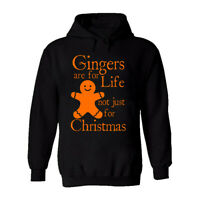 Gingers Are For Life Funny Mens Hoodie Christmas Elf Xmas Novelty Rude Joke Top