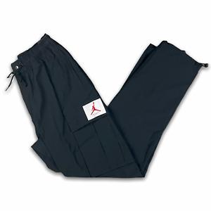 New Nike Air Jordan Flight Woven Cargo Pants Black Men's Size Medium CV3177-010