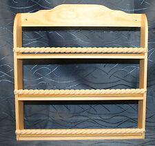 Handgefertigtes Gewürzregal aus Holz mit 3 Böden - Natur gewachst-