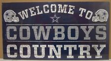 """DALLAS COWBOYS WELCOME TO COWBOYS COUNTRY WOOD SIGN 13""""X24'' NEW WINCRAFT"""