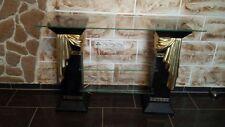 Regal Säulenregal Säulen Exklusiv Stuckgips Regale für TV Medusa Mäander 1863