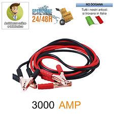 CAVI COLLEGAMENTO BATTERIA AVVIAMENTO 3000 AMP AUTO CAMPER CAMION MOTO