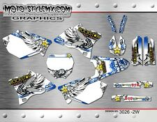 Yamaha YZ 125 & 250 2002 up to 2014 graphics decals kit stickers Moto StyleMX