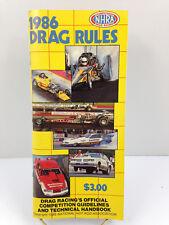 Vintage 1986 National Hot Rod Association NHRA Official Drag Racing Rules Book