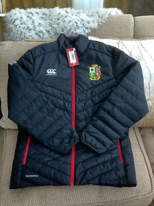Canterbury British Lions 2021 Rugby Black Padded Jacket Medium BNew With Tags