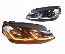 FARI ANTERIORI LED VW GOLF 7 dal 2012 al 2017 FRECCIA LED BAFFO CROMO GTD LOOK