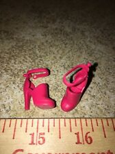 Barbie Fire Engine Red Ankle Strap High HeelS Pumps Shoes Fashion Accessory