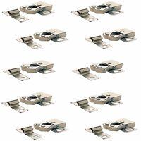 10 x ROLLER CATCH CUPBOARD CABINET DOOR LATCH  DOUBLE CARAVAN BOAT SILVER SCREWS
