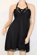 LIPSY Size 12 NEW Little Black Dress Cocktail Party Christmas Sheer Beaded BNWT