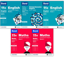 English & Maths 5 Books Set Collection Bond 11+ For Ages 10-11+ No.1 For Exam