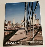 Shannon's Fine Art Auctioneers Auction October 23 2014 Milford CT Art Catalog