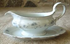 Vintage Johann Haviland China Gravy Bowl With Underplate Blue Garland Wedding
