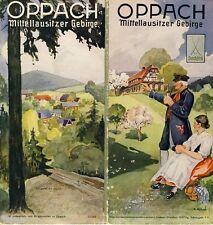 Oppach moyens Lausitzer montagne région de Lausitz prospectus 1937 + ortsplan & logements