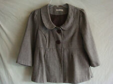 WOMENS AUTH FOREVER 21 3/4 SLEEVE TWEED BLAZER NEW BROWN SZ M