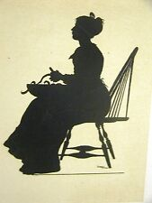 Winslow Homer 1874 SILHOUETTE of a YOUNG GIRL from COURTIN' #2 Art Print Matted