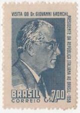 1958 BRASILE VISITA DI GRONCHI EM.CONGIUNTA