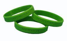 LEGALIZE IT wristband! 420 weed pot cannabis marijuana bob marley livestrong 710