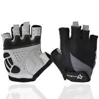 RockBros  Half Finger Short Finger Black Cycling Sport Gloves Size S-XL