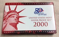 2000 US MINT SILVER PROOF SET - Complete w/ Original Box and COA