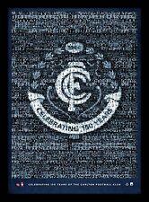 Carlton Football Club 150 Years Mosaic AFL Limited Edition Print Framed