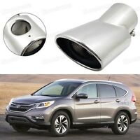 Silver Car Exhaust Muffler Tip Tail Pipe End Trim for Honda CR-V 2012-2016 #1023