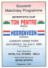 More details for ton pentre v heerenveen intertoto cup 1 jul 1995