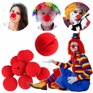 1-30 pcs Soft Foam Red Clown Nose For Circus Halloween Costume Party Supplies