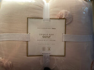 Pottery Barn Teen Crinkle Puff Quilt Twin Pink New In Package