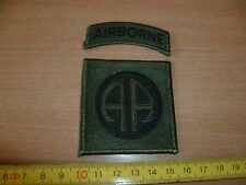 (E25) ECUSSON PATCH USA ARMY    AIRBORNE  ALL AMERICAINS