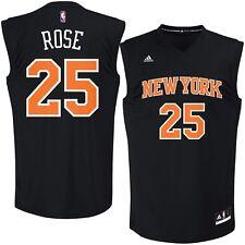 💯% Genuine Derrick Rose New York Knicks adidas Fashion Replica Jersey L-Black