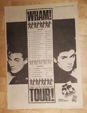 Wham ! Club fantastic tour ! 1983 press advert Full page 39 x 28 cm poster