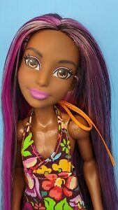 Bumble Bee Custom Reroot DC Superhero Girls Doll AA Purple Pink Black Hair ooak