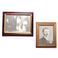 Casa De Muñecas Miniaturas: conjunto de 2 fotos Enmarcado-Boda imágenes y retrato