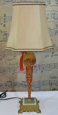 LAMP MUSICAL INSTRUMENT, HULUSI CHINESE FLUTE NATURAL, METAL BASE BAMBOO, GOURD