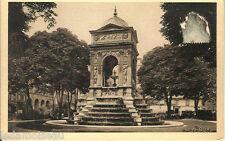 Carte postale, PARIS, La fontaine des innocents, écrite au revers.